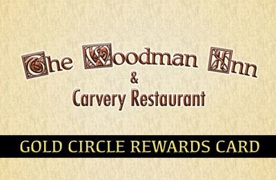 The Woodman Inn & Carvery Restaurant Gold Cirlce Rewards Card